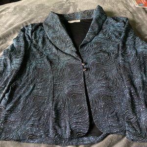 Tradition Dressy Blue Metallic Blazer/Camisole S18